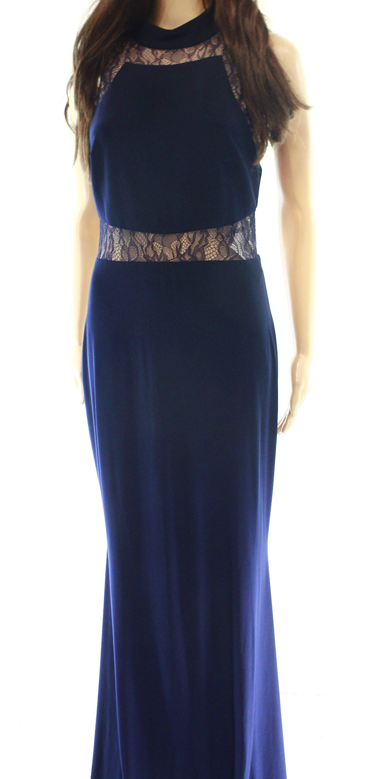 Betsy u adam womenus floral lace ball gown dress blue apparel