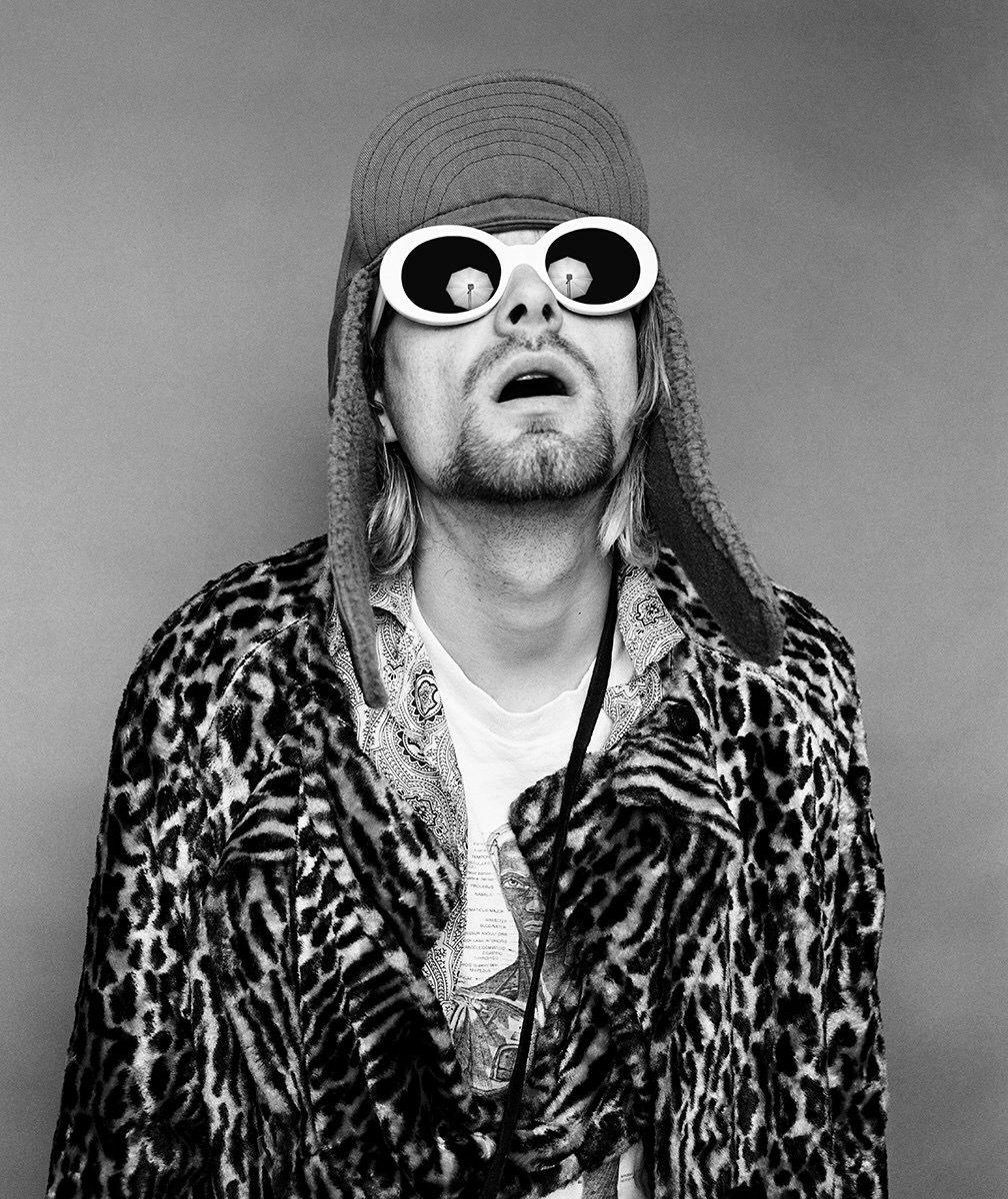 Kurt Cobain wearing sunglasses
