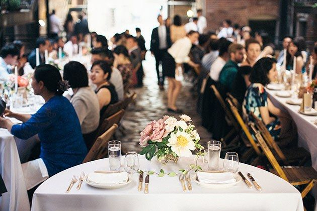 Brooklyn, New York Real Wedding Photos: A Low-Key Wedding at the Glasserie in Greenpoint