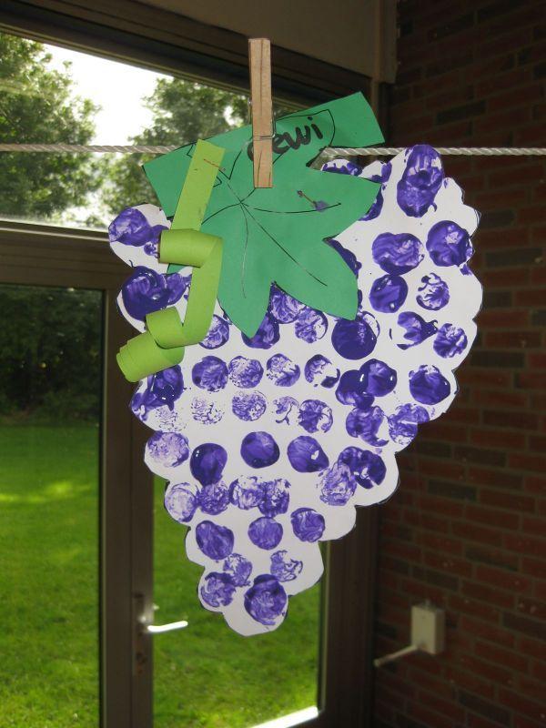 stempelen vingerafdruk druiventros