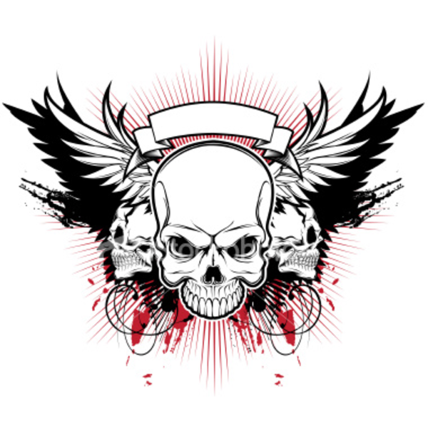 Pin On Skull With Wings Tattoo Designs