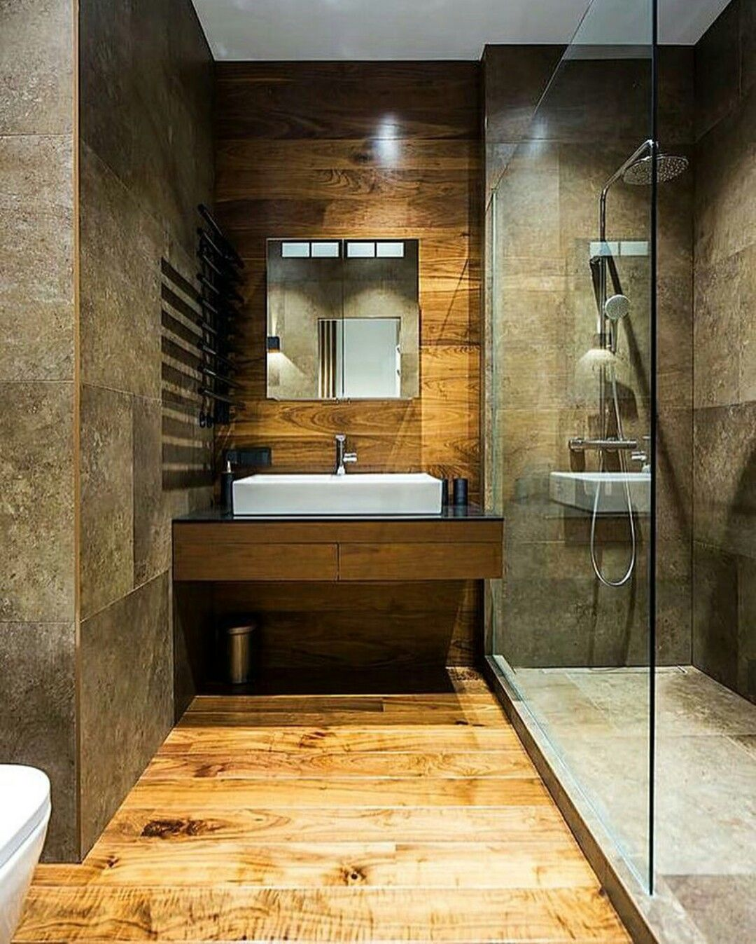Stone Bathroom Designs Wood And Brown Stone Bathroom Interior Design Bathroom Design