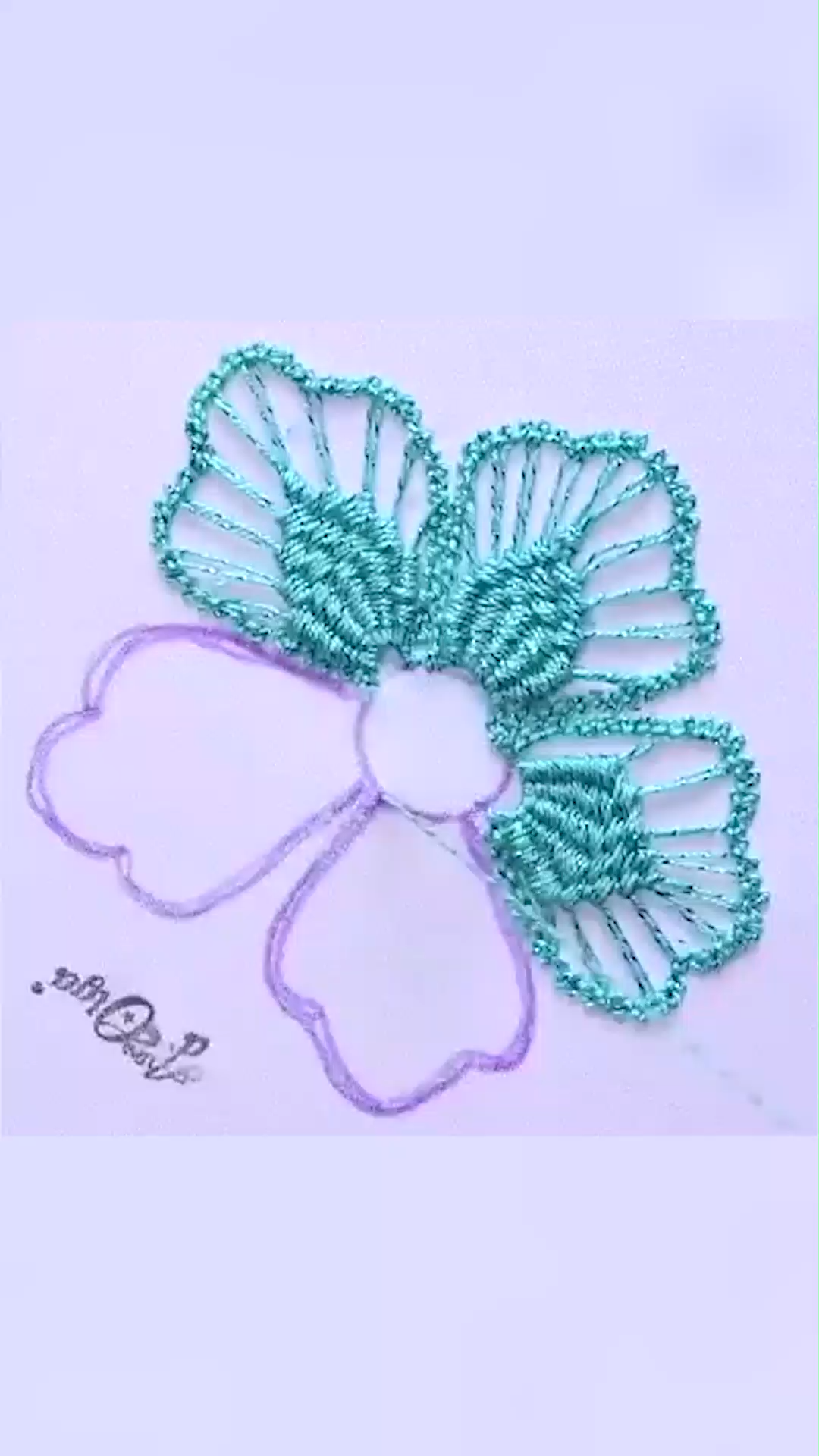 Romanian Macrame Flower How To Embroider A Romanian Macrame Flower Artesd Olga In 2020 Sewing Embroidery Designs Creative Embroidery Embroidery Flowers Pattern