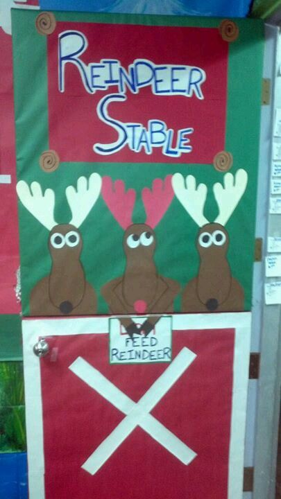 My class door @ Tiny Tykes Christmas 2012