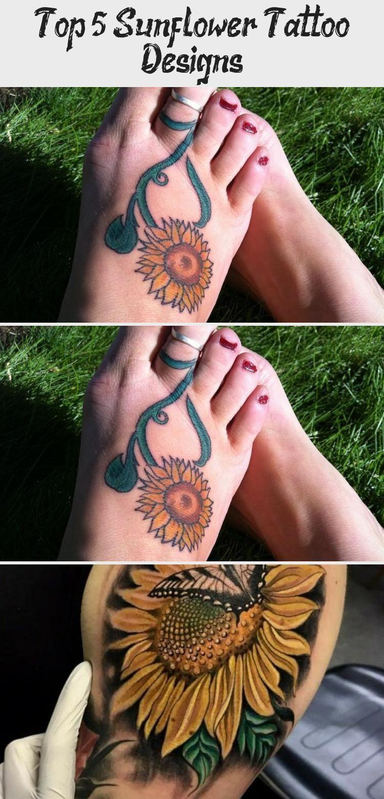 Photo of Top 5 Sunflower Tattoo Designs #sunflowertattoosMen #Yellowsunflowertattoos #sun…