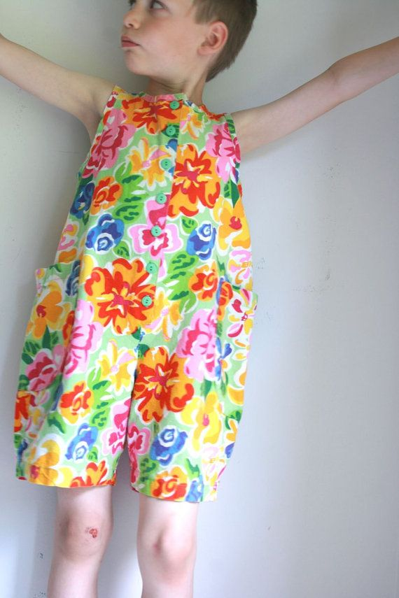 Vintage girls romper size 7 hanna andersson by fuzzymama on Etsy