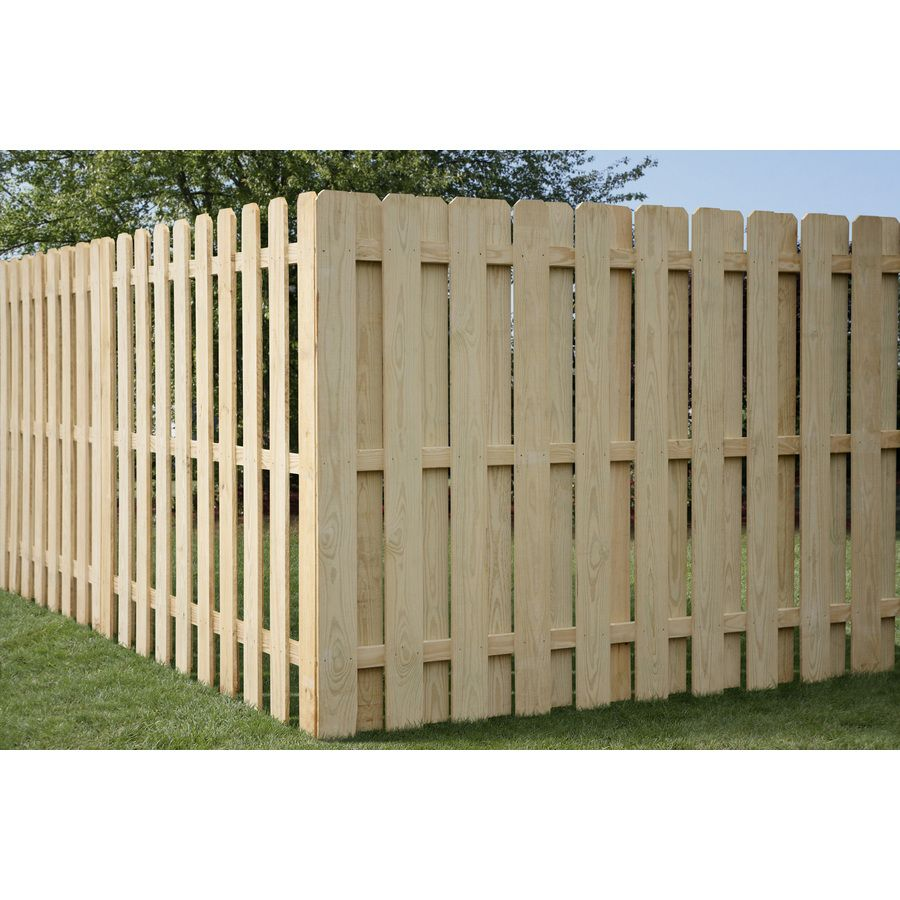 Shop Pine Dog Ear Pressure Treated Wood Fence Privacy Panel
