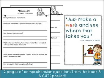 Growth Mindset Book Review and Activity Packet- Book: The Dot