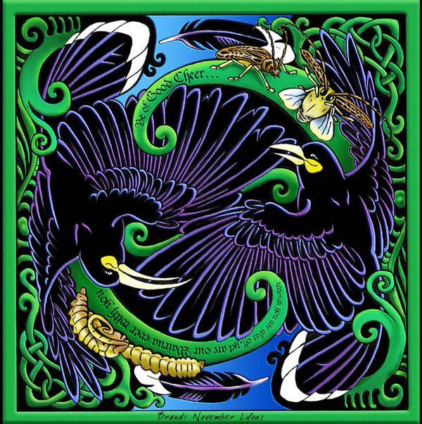 "Wairua of the Huia, New Zealand by B.November Lyons ""RavensLore"", via Behance"