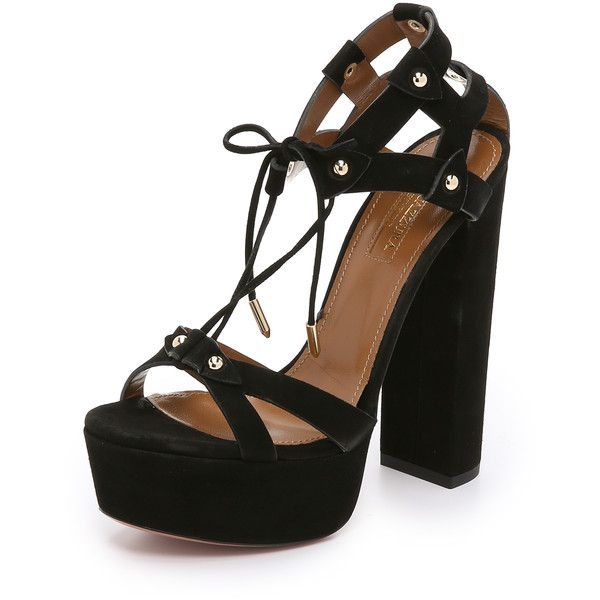 a230b3b91288 Aquazzura Bel Air Plateau Sandals (8.185 ARS) ❤ liked on Polyvore featuring  shoes