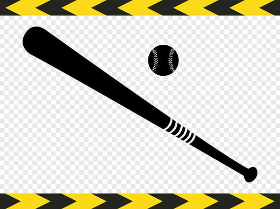 Baseball bat svg. Softball ball clipart silhouette