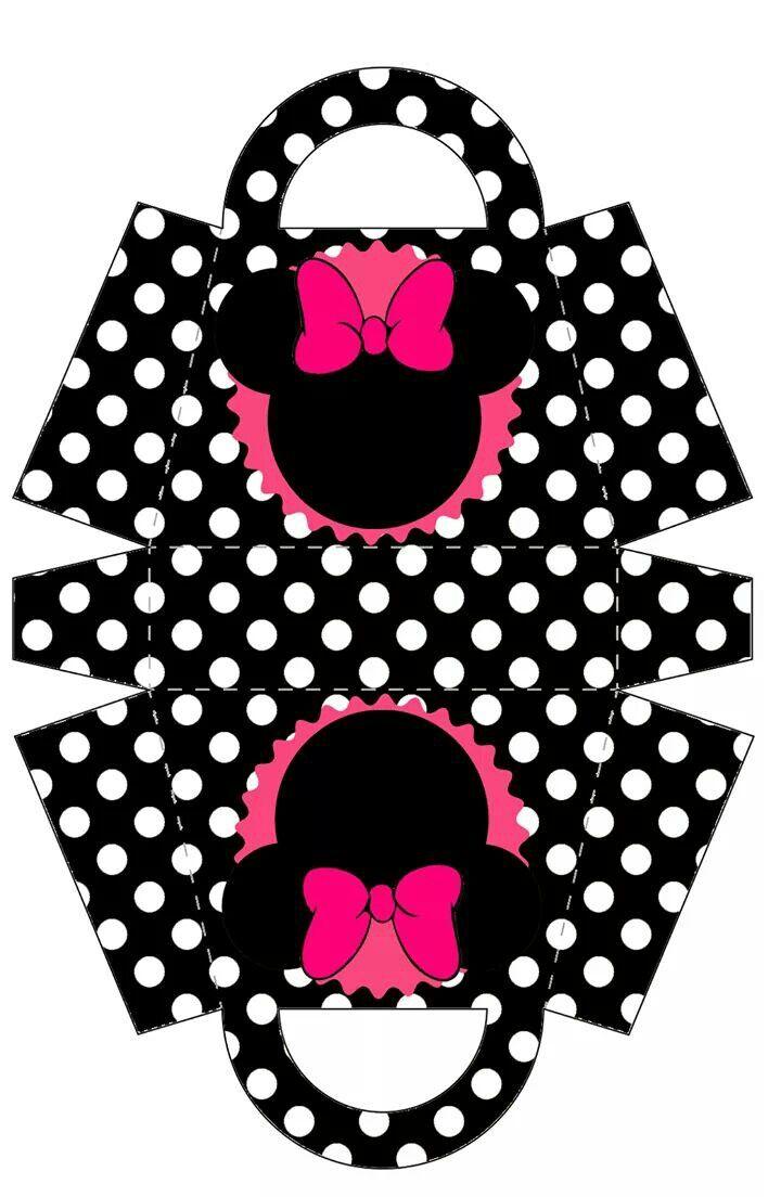 Pin By Zhraa Mahdi On Korobochki Minnie Minnie Party Paper Purse
