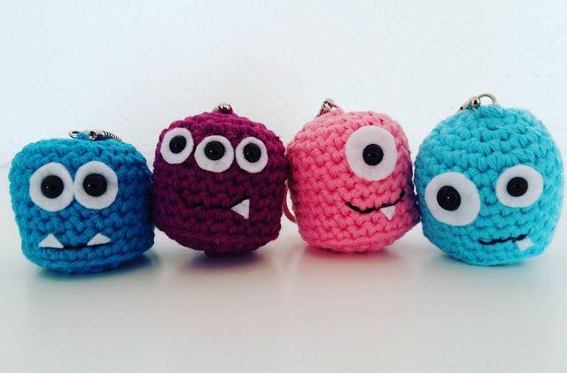 Amigurumi Tuto : Tuto porte clef monstres amigurumi crochet amigurumi