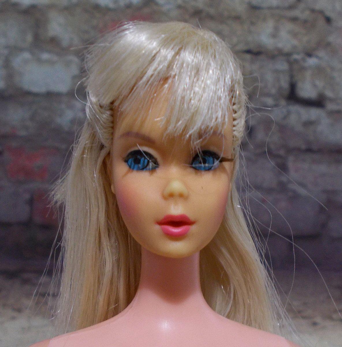Tnt Barbie Doll Platinum Blonde Hair Vintage Mod Era Twist N Turn