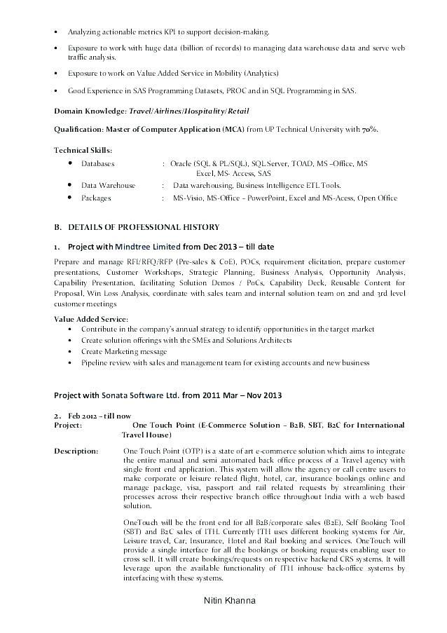 Resume Examples For Business Business Analyst Resume Sample