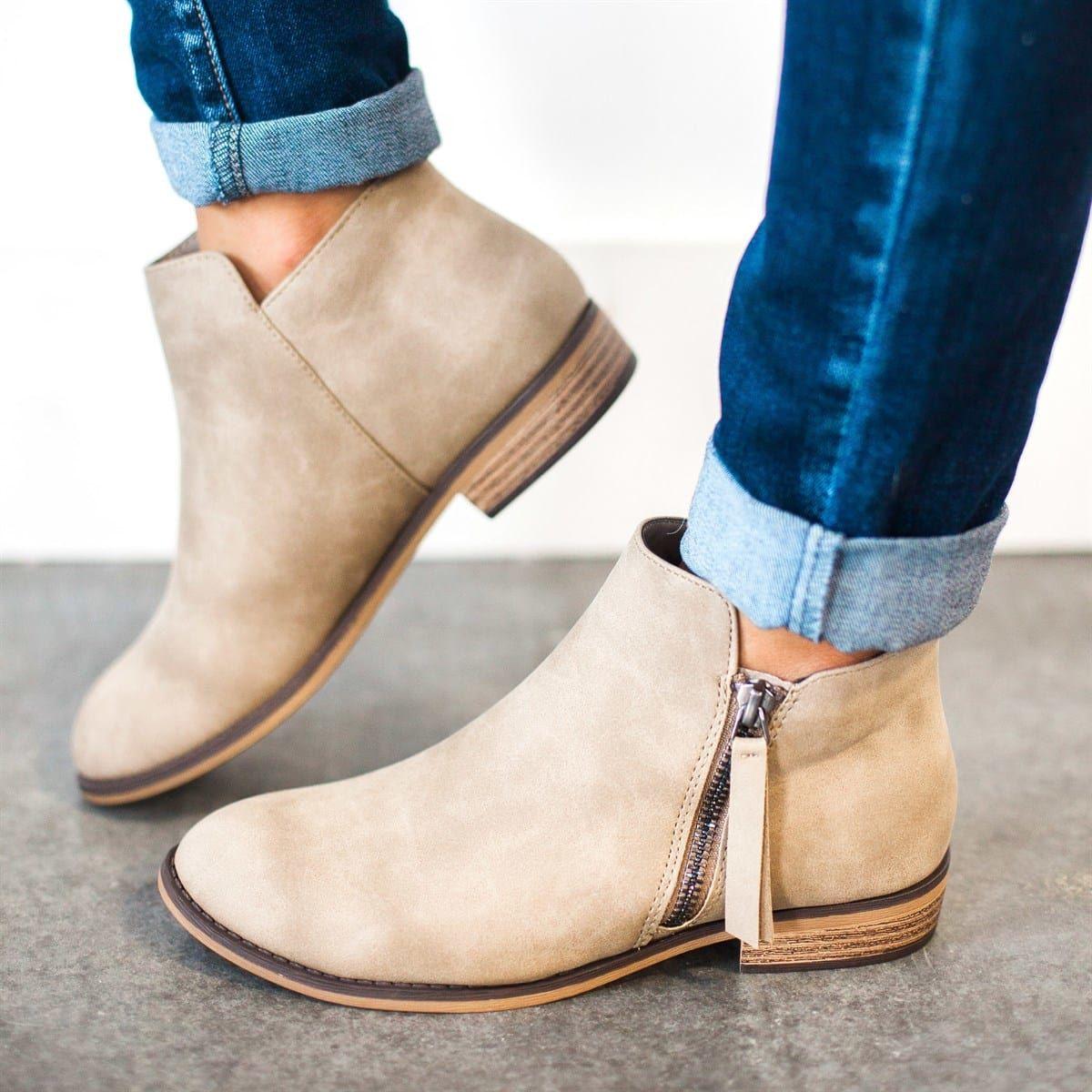Zipper Booties #fallshoes