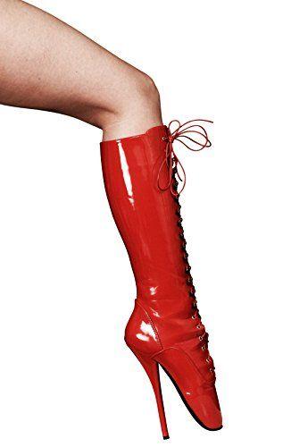 RUBY-FASHION Sexy Ballet Extrem High Heels Lack Stiefel kniehohe Ballett Boots Lackstiefel / Rot / EU 37-46 - http://on-line-kaufen.de/ruby-fashion/ruby-fashion-sexy-ballet-extrem-high-heels-lack-eu-2