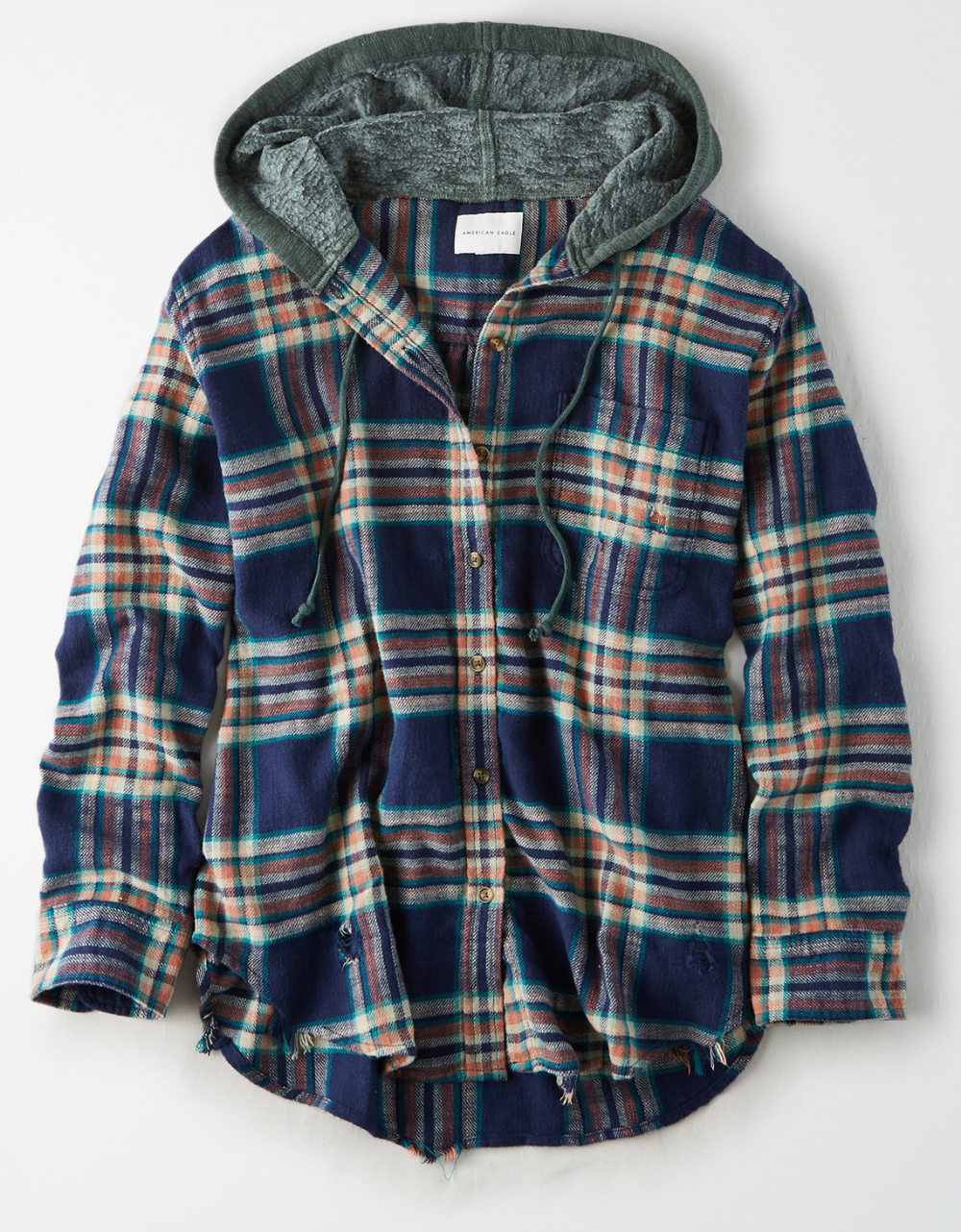 Ae Oversized Plaid Hoodie Hoodie Fashion Plaid Hoodie Flannel Hoodie [ 1282 x 1000 Pixel ]