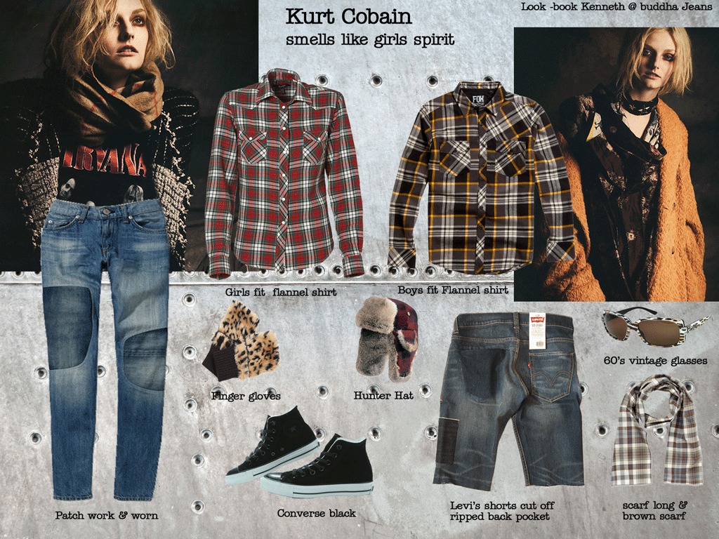 571c2d43e48 girls-look-book-kurt-cobain | Style in 2019 | Fashion, Kurt cobain ...