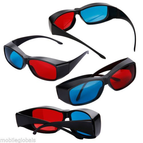4x shaped red + blue lens #anaglyph #circularly 3d glasses for 3d #games movies d,  View more on the LINK: 	http://www.zeppy.io/product/gb/2/271727915547/
