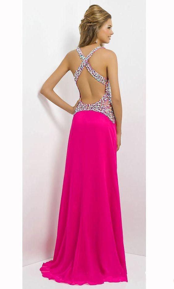 Red Evening Dresses Backelss Chiffon Dresses Cheap Occasion Dresses ...