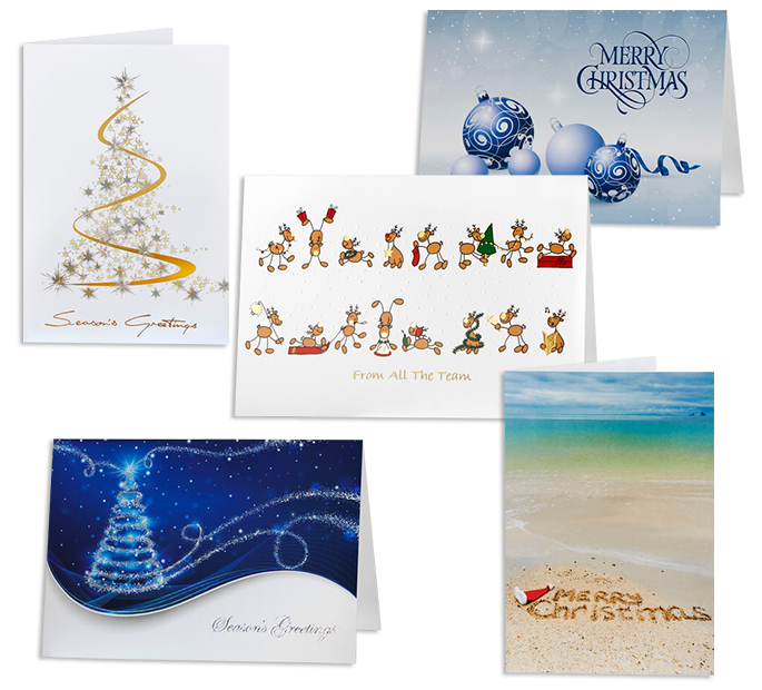 Personalised Corporate Christmas Cards Bulk Auscard