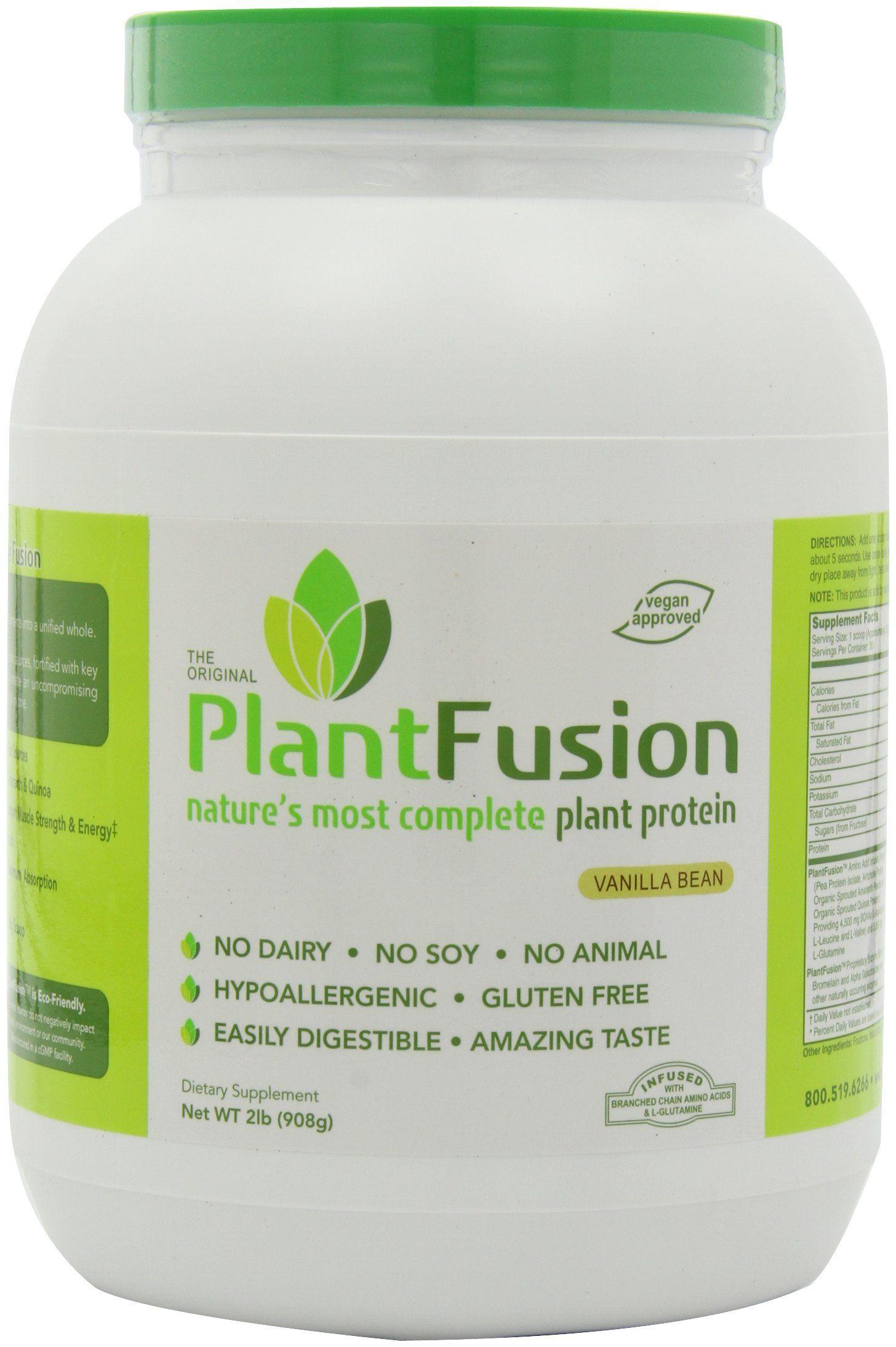 Plantfusion Protein Vanilla Bean 2lb Plant Based Protein Powder Vegan Protein Powder Complete Plant Proteins
