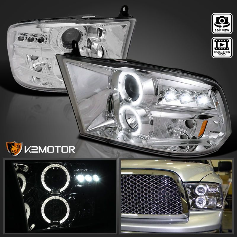 Details about 2009-2018 Ram 1500 2500 3500 LED Halo Projector