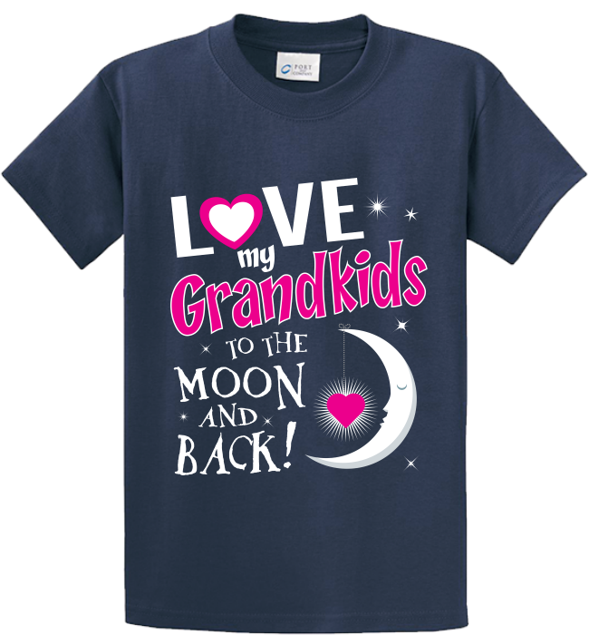 Quality Hoodies and tees..Click here http://zapbest2.myshopify.com/collections/grandma/products/love-grand-kids-moon-back Made just for you! Printed in USA Fast Shipping! In Stock.