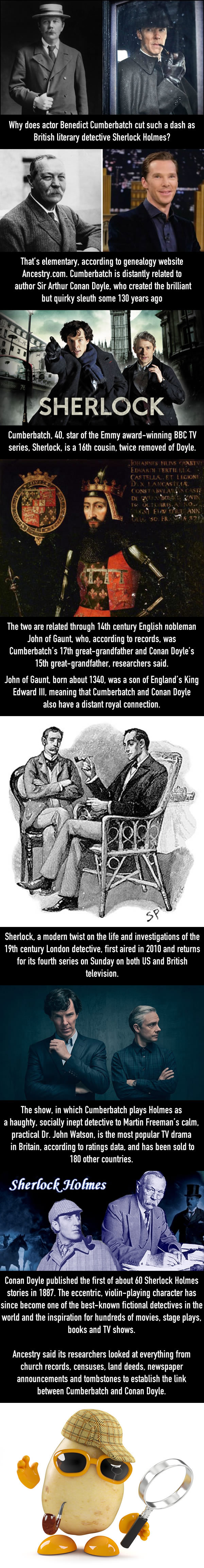 Get this! 'Sherlock' star Benedict Cumberbatch is related to Sir Arthur Conan Doyle