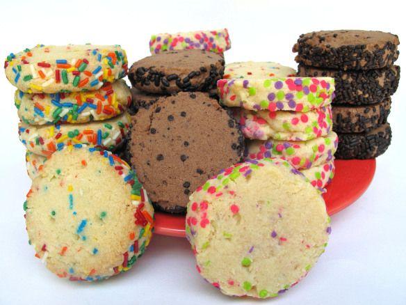 Slice-and-Bake Sprinkle Chubbies #militarycarepackage #desertsaferecipe