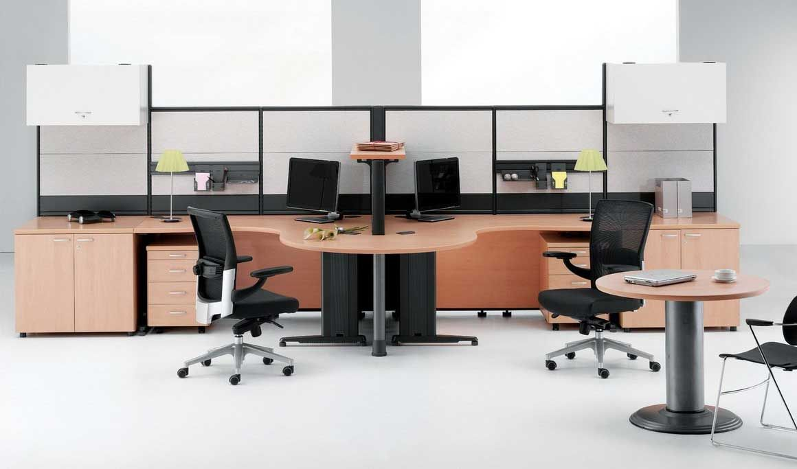 Office arrangement ideas office cubicle systems type for Office arrangements small offices