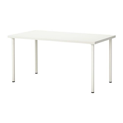 Linnmon Alex Black Brown White Table 150x75 Cm Ikea Ikea Cheap Office Furniture Office Furniture