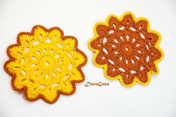 Crochet doily pattern Crochet coaster Pattern by PatternsDG
