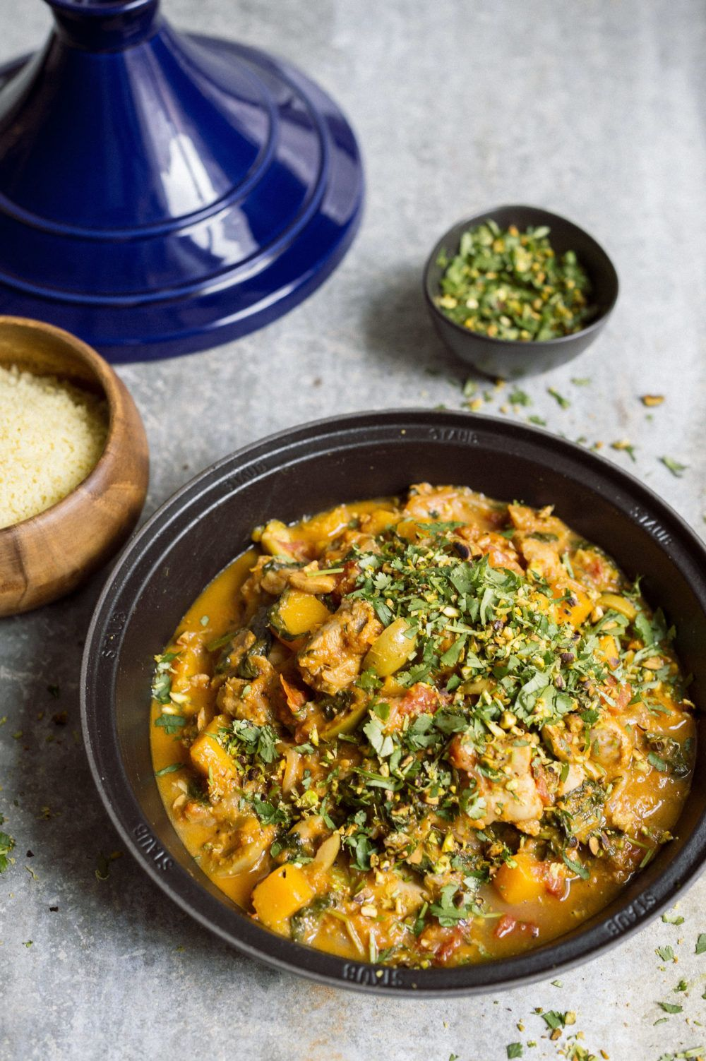 Chicken Tagine With Apricots Butternut Squash And Spinach Recipe Chicken Tagine Tagine Chicken Recipes