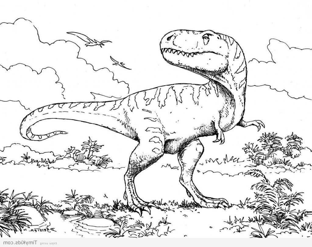 Printable Dinosaur Coloring Pages Sanat Dekor Okul Oncesi