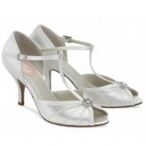Perfume White Satin 2 3 4 Heel In Dyeable Shoes