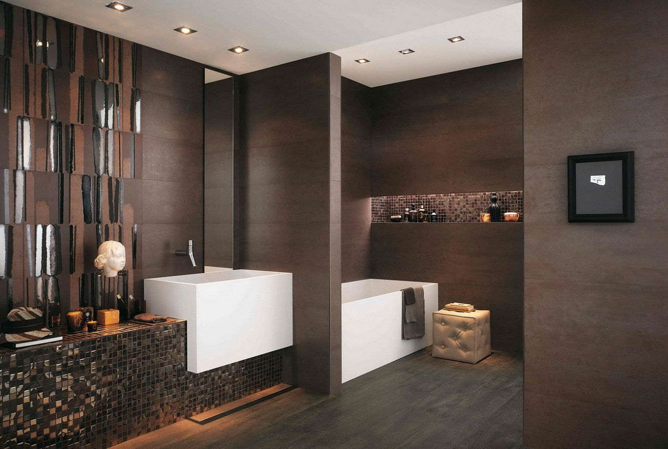 Salle De Bain Marron Idees Deco Et Astuces D Amenagement Brown