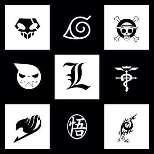 Some Great Anime Tatoo Tatuagens Black anime logo wallpaper