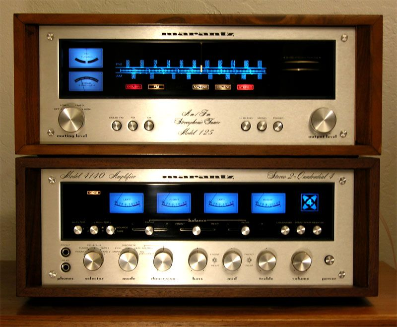 Vintage Marantz Stereophonic Receiver and Model 4140 Four-Channel