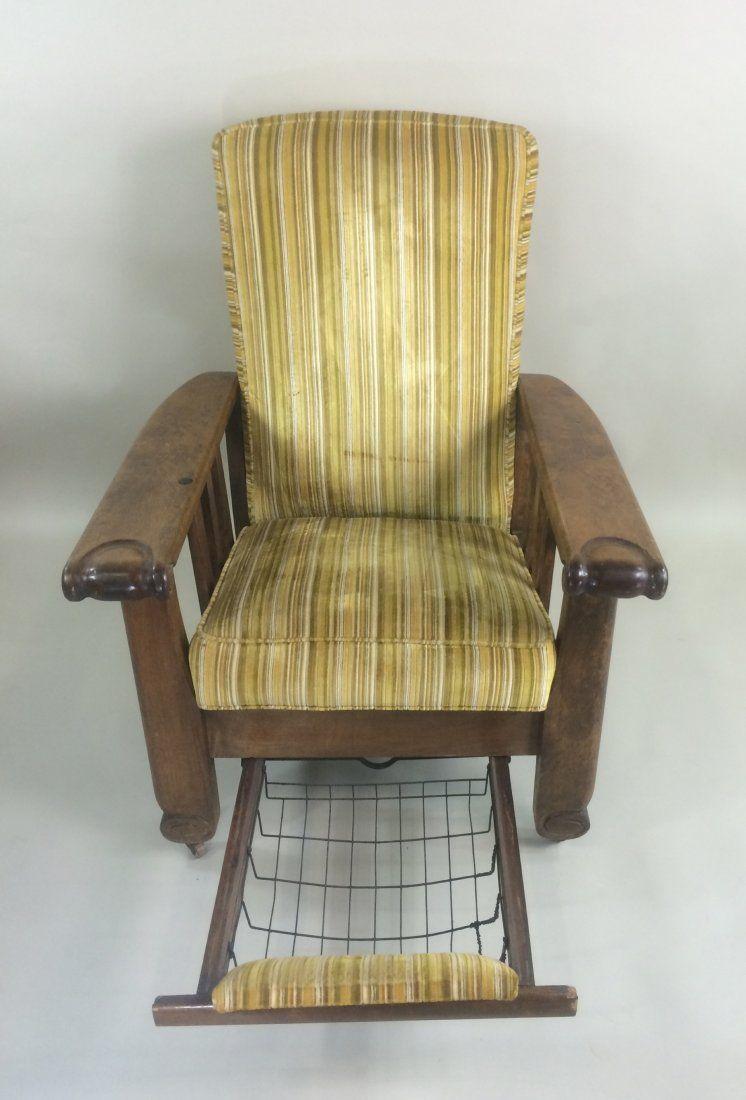 Morris chair cushions - Morris Chair An 1910 1920 Early Type Of Reclining Chair The