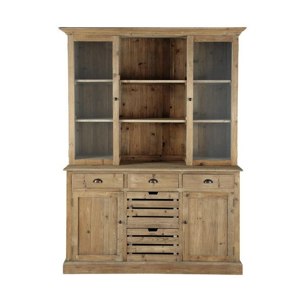Recycled wood china cabinet W - Pagnol dining room Pinterest