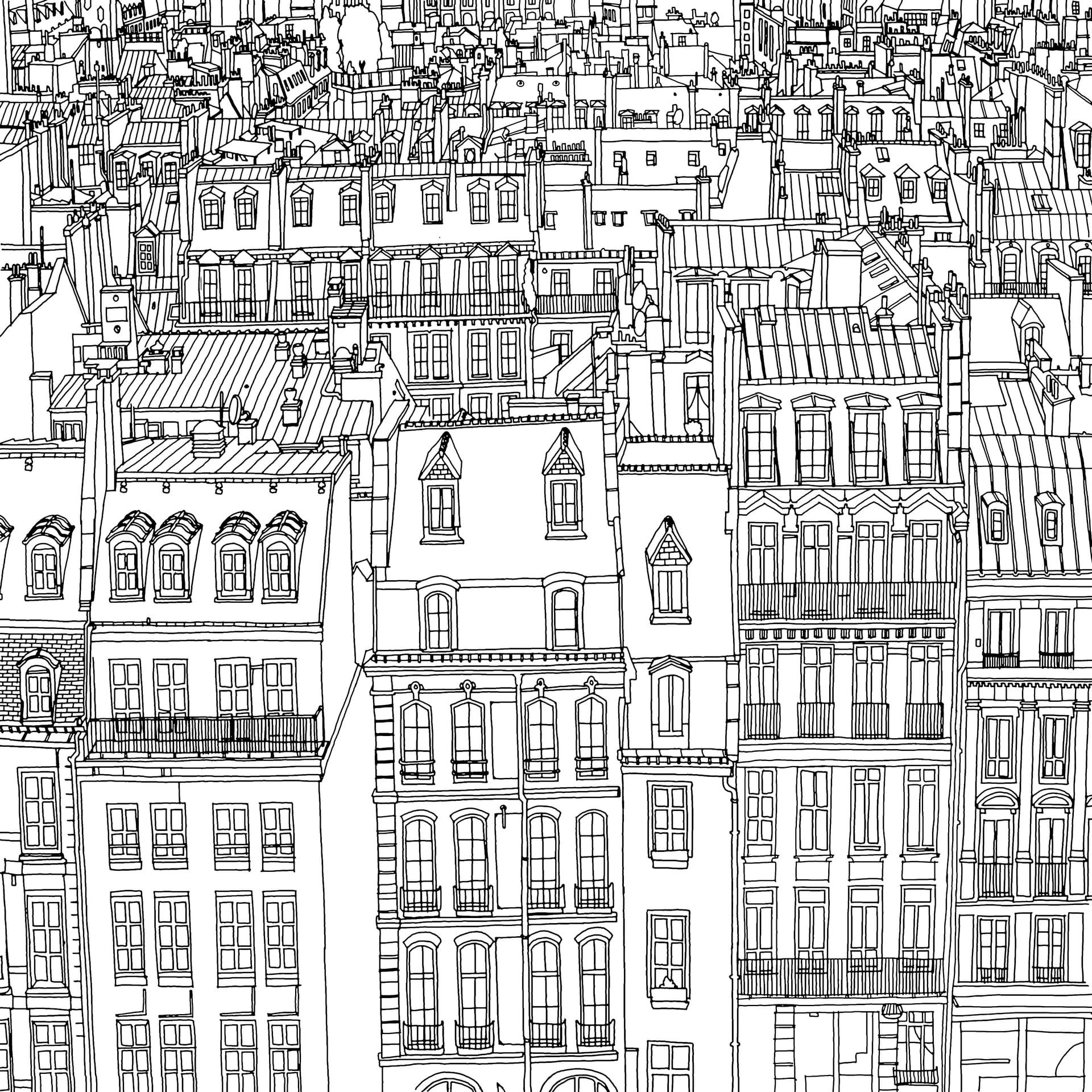 Canadian Artist Steve McDonalds Colouring Book Fantastic Cities Is Full Of Painstakingly Accurate Perspectives Urban