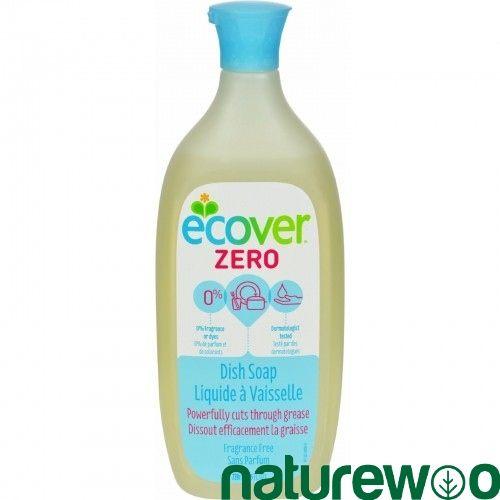 Ecover 1558725 Dish Soap Liquid Zero Fragrance Free 25