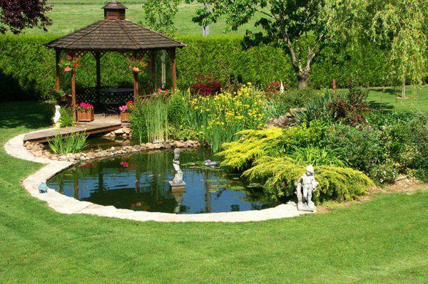 27 id s pour le bassin de jardin pr form hors sol bassin pavillon et bassin de jardin. Black Bedroom Furniture Sets. Home Design Ideas