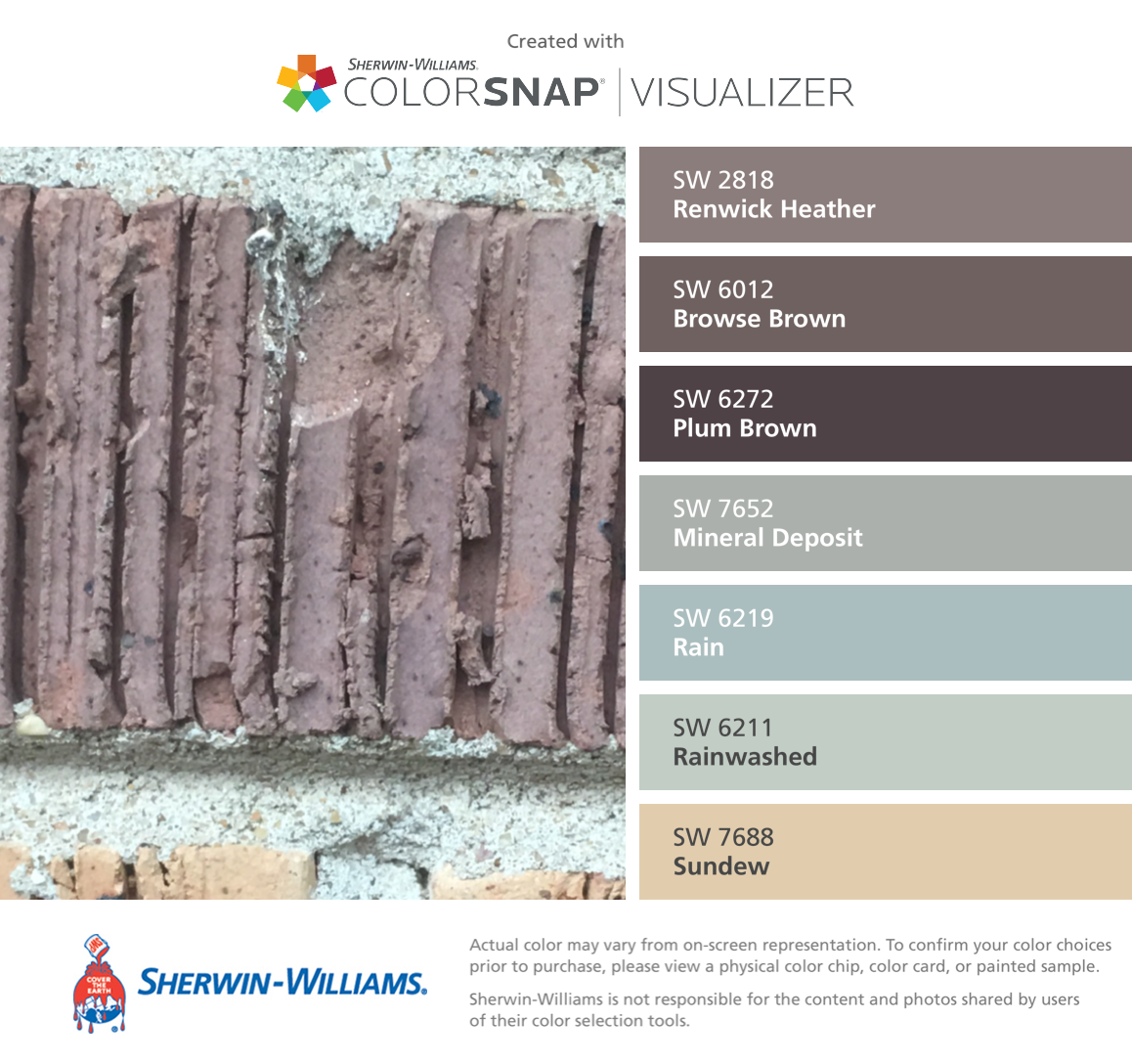 i found these colors with colorsnap visualizer for iphone on benjamin moore color visualizer id=62899
