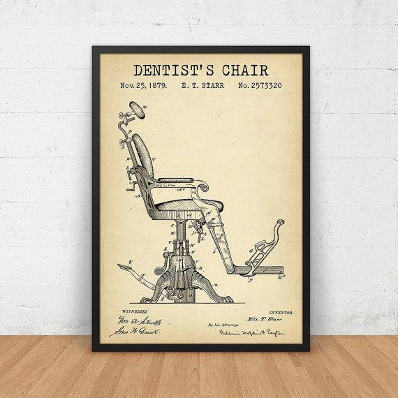 Dentist chair patent art printable vintage dental blueprint by dentist chair patent art printable vintage dental blueprint by digitalblueprints etsy malvernweather Choice Image