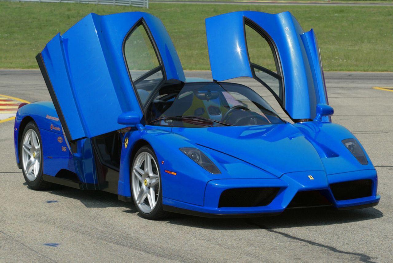 Blue Car Ferrari Enzo Ferrari Car Sports Cars Luxury