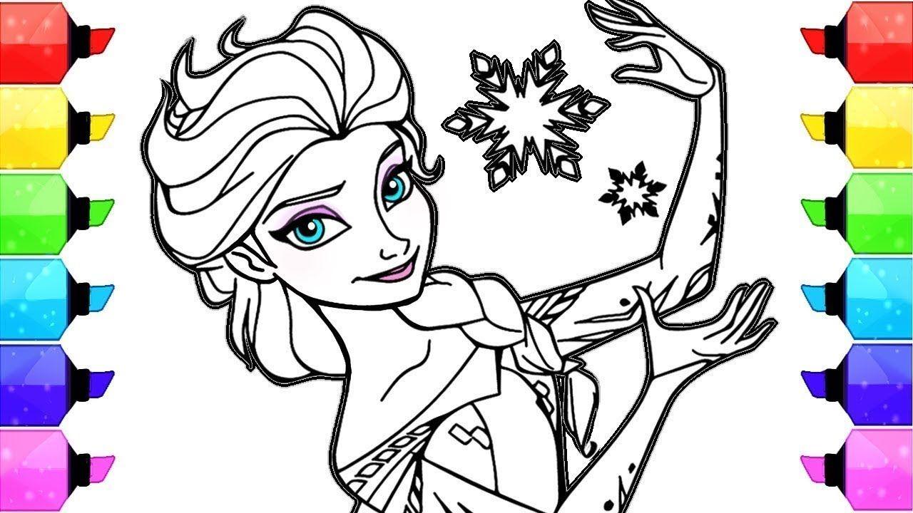 Super Desenhos Para Colorir Elsa Frozen Disney Colorindo Desenhos  ZW19