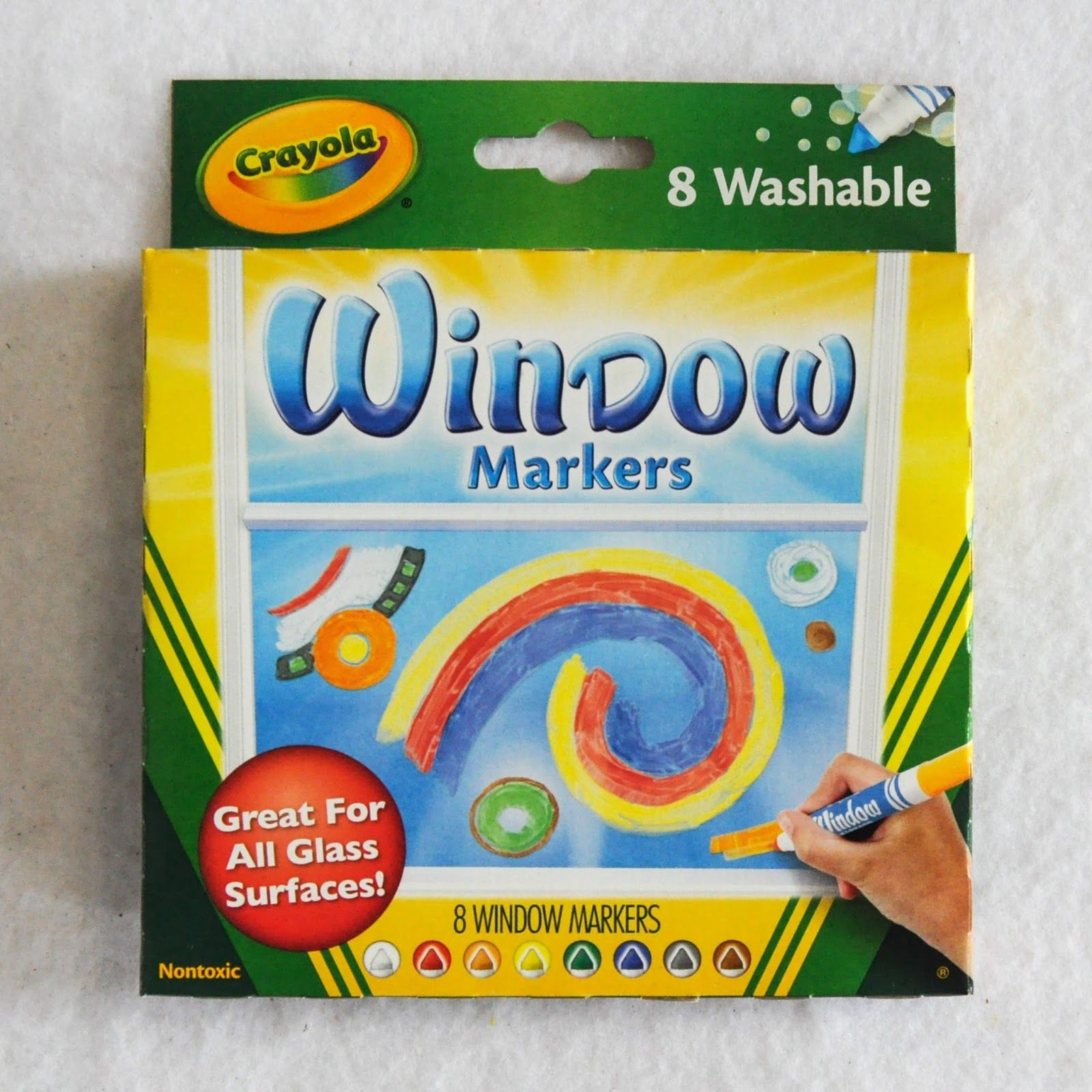 8 Count Crayola Window Markers What S Inside The Box Window Markers Crayola Window Markers Markers